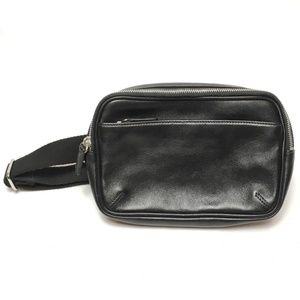 Coach Black Leather Fanny Pack